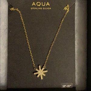 Bloomingdales Aqua gold tone silver necklace